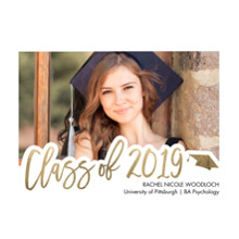 2019 Graduation Announcements 5x7 Cards, Premium Cardstock 120lb with Scalloped Corners, Card & Stationery -2019 Scripted by Tumbalina