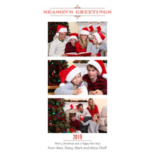 Christmas Photo Cards 4x8 Flat Card Set, 85lb, Card & Stationery -Red Season???s Greetings