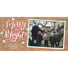 Christmas Photo Cards 4x8 Flat Card Set, 85lb, Card & Stationery -Christmas Merry & Bright Stars by Tumbalina