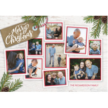 Christmas Photo Cards 5x7 Cards, Premium Cardstock 120lb with Elegant Corners, Card & Stationery -Christmas Memories