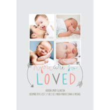 Baby + Kids Framed Canvas Print, Oak, 20x30, Home Decor -So Loved