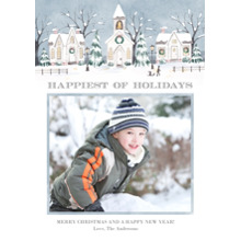 Christmas Photo Cards 5x7 Cards, Premium Cardstock 120lb with Rounded Corners, Card & Stationery -Happiest of Home