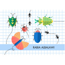 Baby & Kids 3.5x5 Flat Notecard, Card & Stationery -Interesting Insects