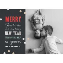 Christmas Photo Cards 5x7 Cards, Premium Cardstock 120lb with Rounded Corners, Card & Stationery -Christmas Confetti