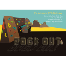 Birthday Party Invites 5x7 Cards, Premium Cardstock 120lb with Scalloped Corners, Card & Stationery -Rock Out