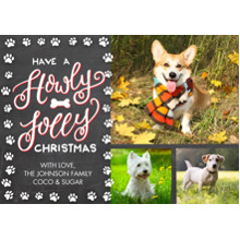 Christmas Photo Cards 5x7 Cards, Premium Cardstock 120lb with Elegant Corners, Card & Stationery -Christmas Howly Jolly Prints by Tumbalina