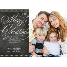 Christmas Photo Cards 5x7 Cards, Premium Cardstock 120lb with Elegant Corners, Card & Stationery -Chalkboard Merry Christmas