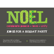 Christmas Party Invitations 5x7 Folded Cards, Standard Cardstock 85lb, Card & Stationery -Noel