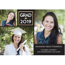 2019 Graduation Announcements 5x7 Cards, Premium Cardstock 120lb with Rounded Corners, Card & Stationery -2019 Grad Cube by Tumbalina