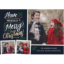 Christmas Photo Cards 5x7 Cards, Premium Cardstock 120lb with Rounded Corners, Card & Stationery -Christmas Festive Lettering