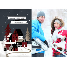 Christmas Photo Cards 5x7 Cards, Premium Cardstock 120lb with Elegant Corners, Card & Stationery -Starry Snowscape