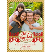 Christmas Photo Cards 5x7 Cards, Premium Cardstock 120lb with Rounded Corners, Card & Stationery -Navidad Luminosa