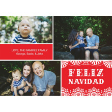 Christmas Photo Cards 5x7 Cards, Premium Cardstock 120lb with Elegant Corners, Card & Stationery -Feliz Navidad Fun