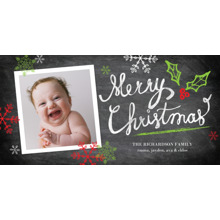 Christmas Photo Cards 4x8 Flat Card Set, 85lb, Card & Stationery -Christmas Handwritten Colorful