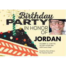 Birthday Party Invites 5x7 Cards, Premium Cardstock 120lb with Rounded Corners, Card & Stationery -Birthday Party Cake