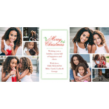 Christmas Photo Cards 4x8 Flat Card Set, 85lb, Card & Stationery -A Family Rejoices