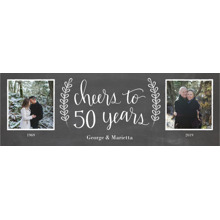 Anniversary 1x3 Peel, Stick & Reuse Banner, Home Decor -Chalkboard Anniversary