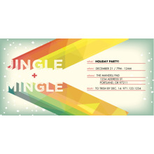 Christmas Party Invitations 4x8 Flat Card Set, 85lb, Card & Stationery -Jingle & Mingle