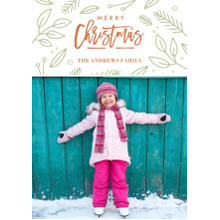 Christmas Photo Cards 5x7 Cards, Premium Cardstock 120lb with Elegant Corners, Card & Stationery -Christmas Foliage