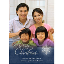 Christmas Photo Cards 5x7 Cards, Premium Cardstock 120lb with Elegant Corners, Card & Stationery -Merry Christmas Snowflake