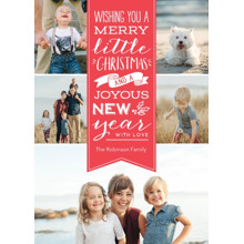 Christmas Photo Cards 5x7 Cards, Premium Cardstock 120lb with Elegant Corners, Card & Stationery -Christmas Merry Little Greeting