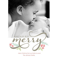 Christmas Photo Cards 5x7 Cards, Premium Cardstock 120lb with Elegant Corners, Card & Stationery -Very Merry