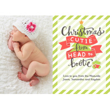 Christmas Photo Cards 5x7 Cards, Premium Cardstock 120lb with Rounded Corners, Card & Stationery -Christmas Cutie