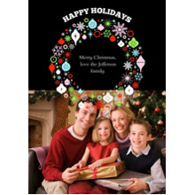 Christmas Photo Cards 5x7 Cards, Premium Cardstock 120lb with Rounded Corners, Card & Stationery -Bountiful Wreath