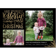 Christmas Photo Cards 5x7 Cards, Premium Cardstock 120lb with Rounded Corners, Card & Stationery -Christmas Merry Script