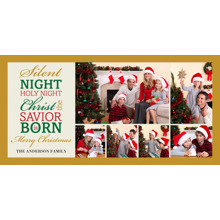 Christmas Photo Cards 4x8 Flat Card Set, 85lb, Card & Stationery -Christmas Silent Night Memories