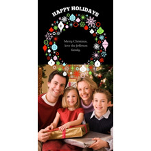 Christmas Photo Cards 4x8 Flat Card Set, 85lb, Card & Stationery -Bountiful Wreath