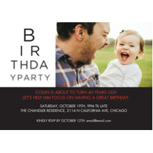 Birthday Party Invites 5x7 Cards, Premium Cardstock 120lb with Rounded Corners, Card & Stationery -See Here