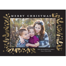 Christmas Photo Cards 5x7 Cards, Premium Cardstock 120lb with Scalloped Corners, Card & Stationery -Christmas Framed Berries