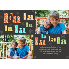 Christmas Photo Cards 5x7 Cards, Premium Cardstock 120lb with Rounded Corners, Card & Stationery -Fa La La La La