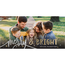 Christmas Photo Cards 4x8 Flat Card Set, 85lb, Card & Stationery -Christmas Merry Silver Memories