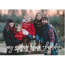 Christmas Photo Cards 5x7 Cards, Premium Cardstock 120lb with Elegant Corners, Card & Stationery -Holiday Joy Peace Love
