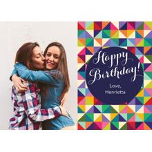 Birthday Greeting Cards 5x7 Folded Cards, Premium Cardstock 120lb, Card & Stationery -Happy Birthday Triangles