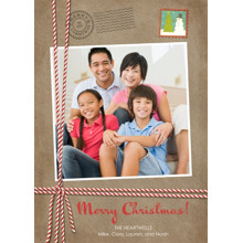 Christmas Photo Cards 5x7 Cards, Premium Cardstock 120lb with Rounded Corners, Card & Stationery -Stamped Merriment