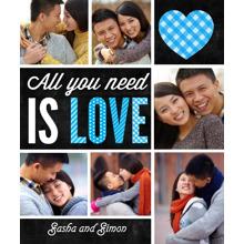 Love Fleece Blanket, 50x60, Gift -All You Need is Love