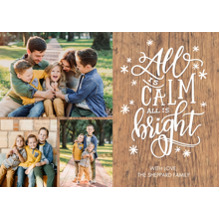 Christmas Photo Cards 5x7 Cards, Premium Cardstock 120lb with Elegant Corners, Card & Stationery -Christmas Stars All Bright by Tumbalina