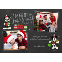 Christmas Photo Cards 5x7 Cards, Premium Cardstock 120lb with Rounded Corners, Card & Stationery -Mickey & Minnie Christmas
