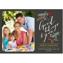 Christmas Photo Cards 5x7 Cards, Premium Cardstock 120lb with Elegant Corners, Card & Stationery -Botanical Tidings
