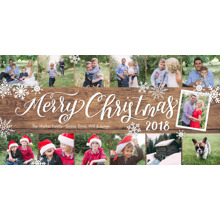 Christmas Photo Cards 4x8 Flat Card Set, 85lb, Card & Stationery -Christmas 2018 Rustic Script by Tumbalina