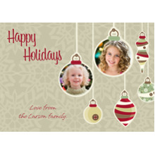 Christmas Photo Cards 5x7 Cards, Premium Cardstock 120lb with Elegant Corners, Card & Stationery -Dangling Ornaments