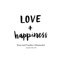 Non Photo Framed Canvas Print, Oak, 20x30, Home Decor -Love Happiness