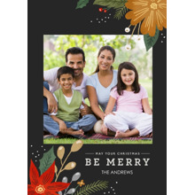 Christmas Photo Cards 5x7 Cards, Premium Cardstock 120lb with Elegant Corners, Card & Stationery -Be Merry