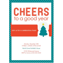Christmas Party Invitations 5x7 Cards, Premium Cardstock 120lb with Scalloped Corners, Card & Stationery -Cheers to the Holidays