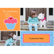 Birthday Party Invites 5x7 Cards, Premium Cardstock 120lb with Rounded Corners, Card & Stationery -Te Invitamos