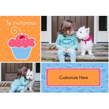 Birthday Party Invites 5x7 Cards, Premium Cardstock 120lb, Card & Stationery -Te Invitamos