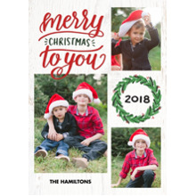 Christmas Photo Cards 5x7 Cards, Premium Cardstock 120lb with Elegant Corners, Card & Stationery -2018 Christmas Wreath by Tumbalina